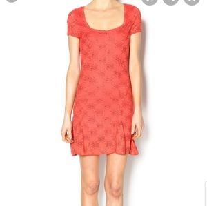 FREE PEOPLE persimmon orange daisy dress